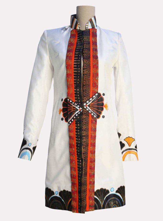 giacca bianca elegante lunga