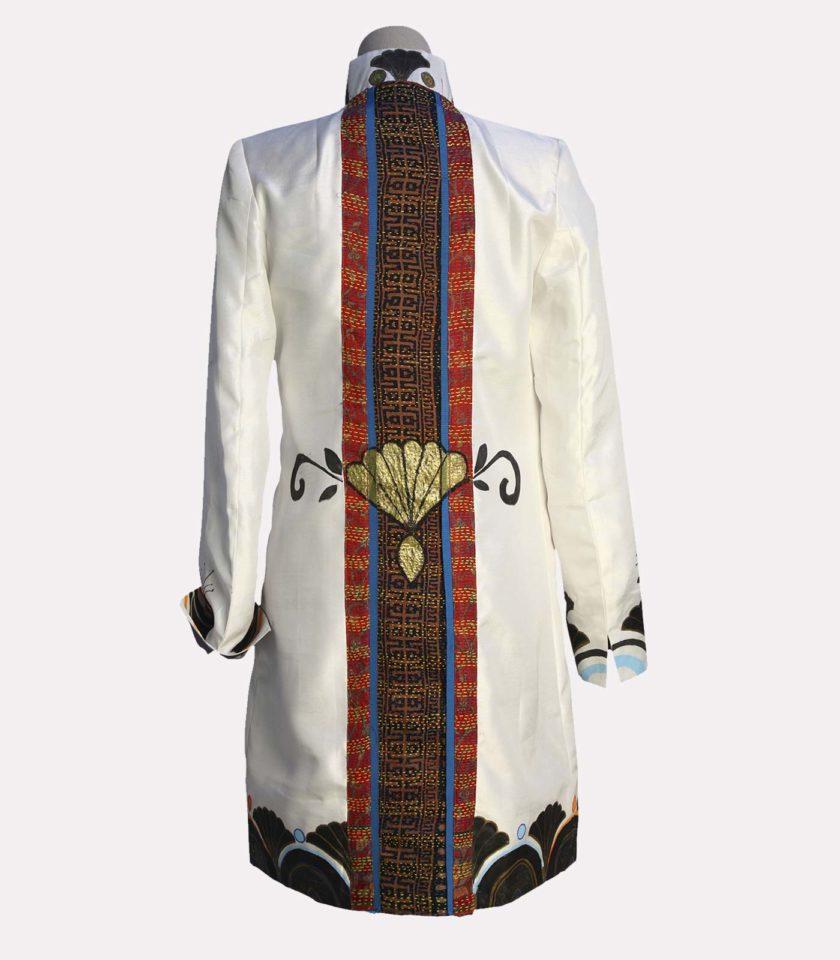 giacca bianca elegante lino