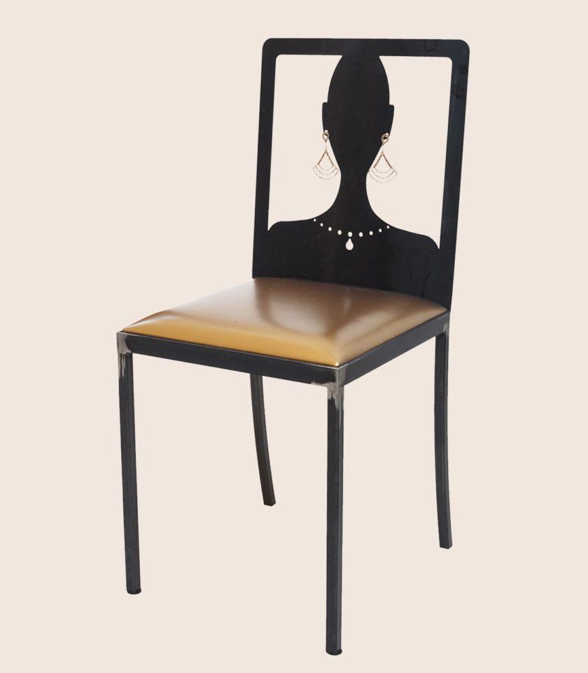 sedia moderna in ferro
