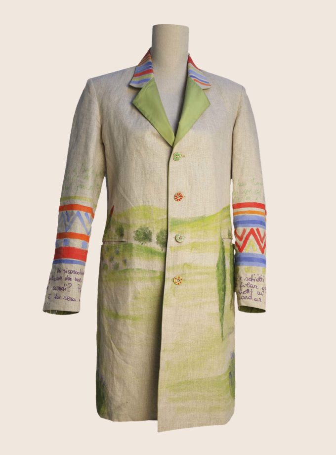 giacca in lino donna reversibile