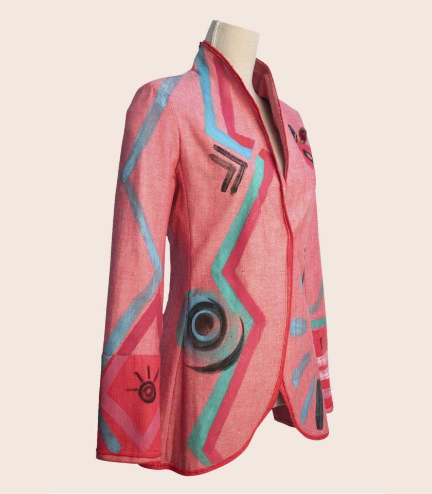 giacca rosa elegante francesca levi