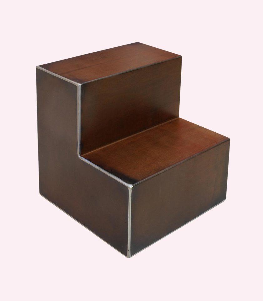 moduli componibili ferro corten e plexiglass