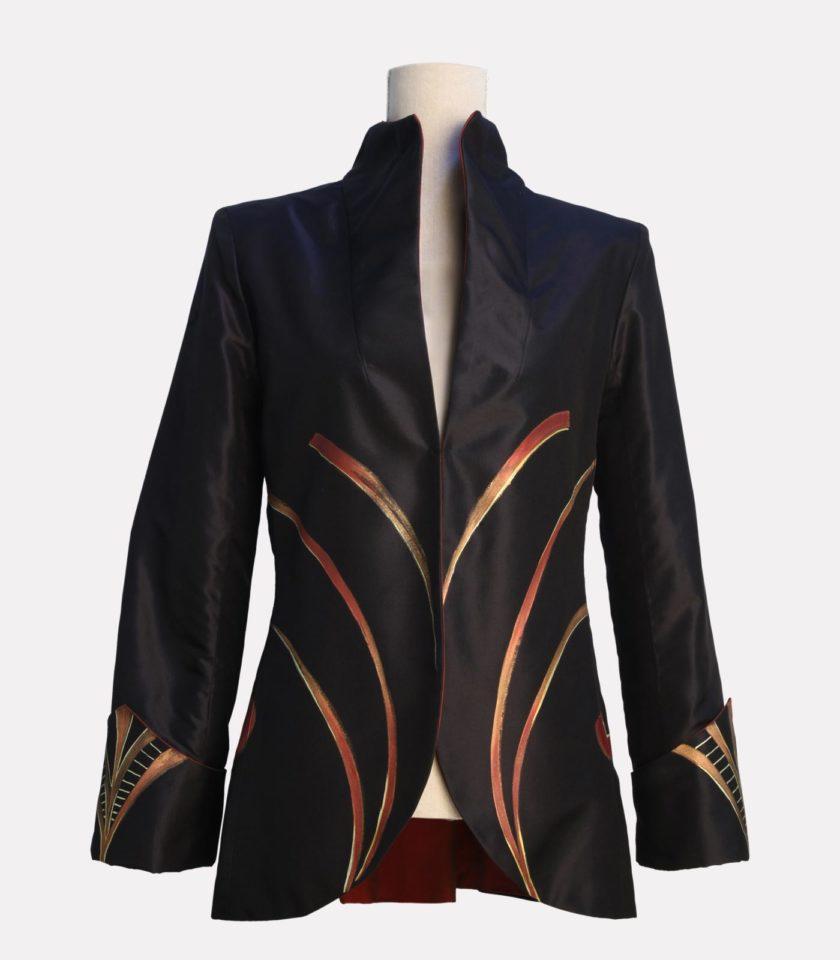 Giacca di seta elegante nera