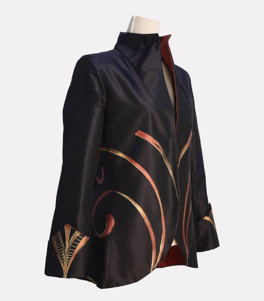 Giacca di seta elegante modello frac