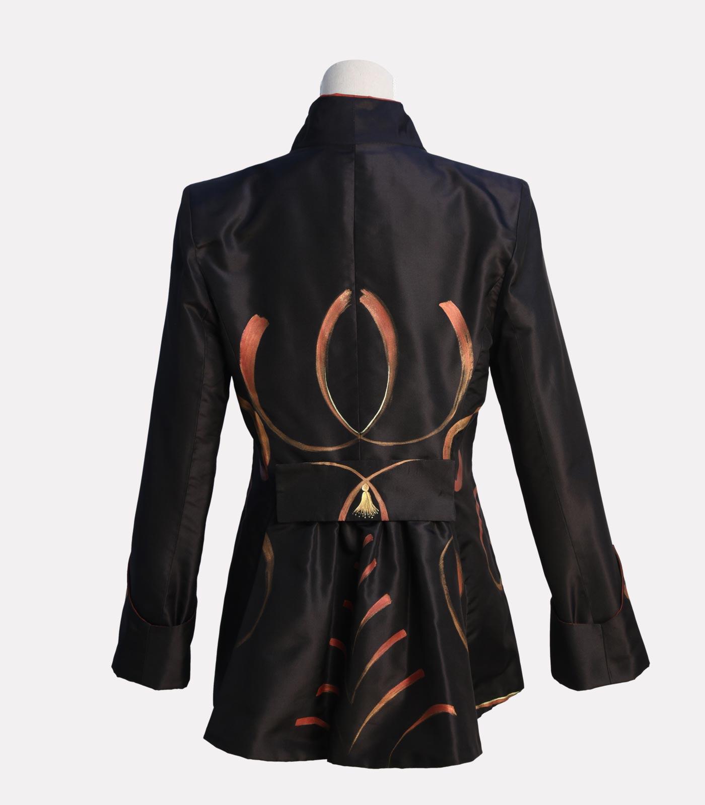 giacca elegante nera brillante