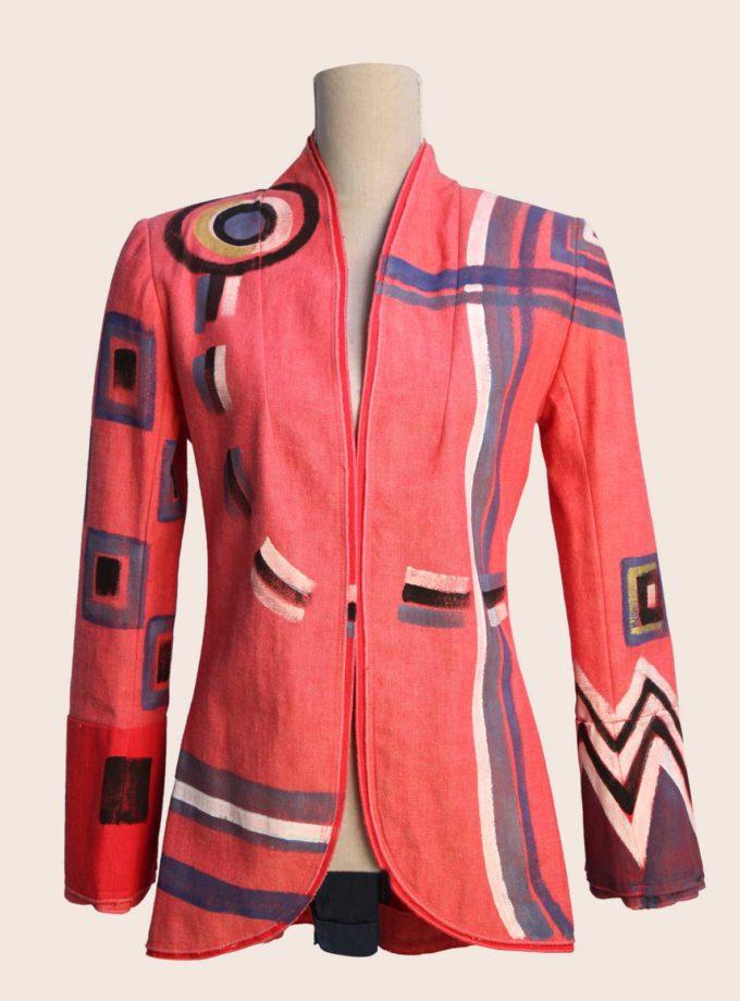 giacca rosa elegante da donna
