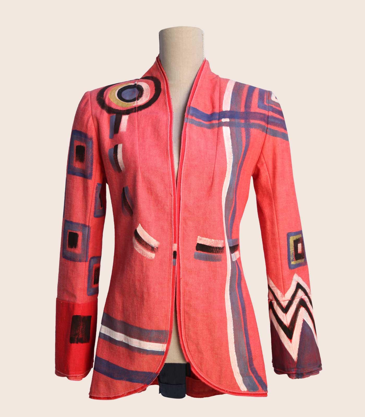 detailed look 272c0 a24a8 Giacca rosa elegante in cotone denim - Fashion Art ...