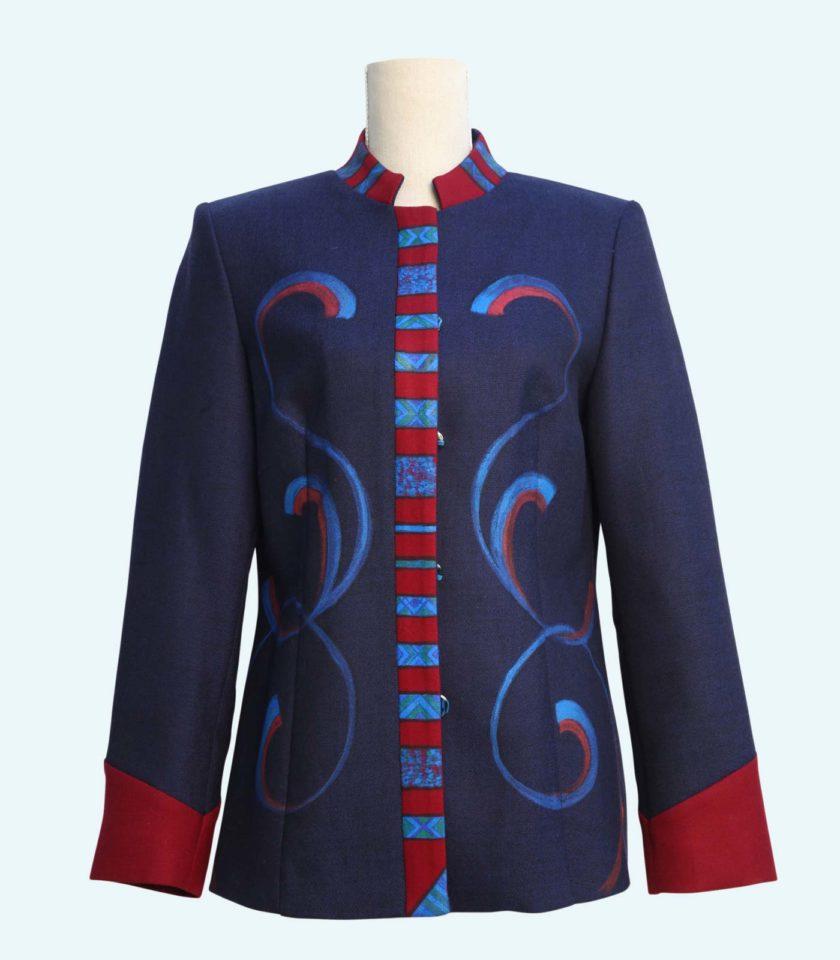 Giacca blu elegante per donne