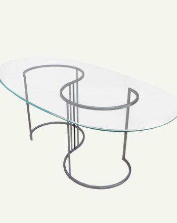 tavolo in vetro moderno ovale