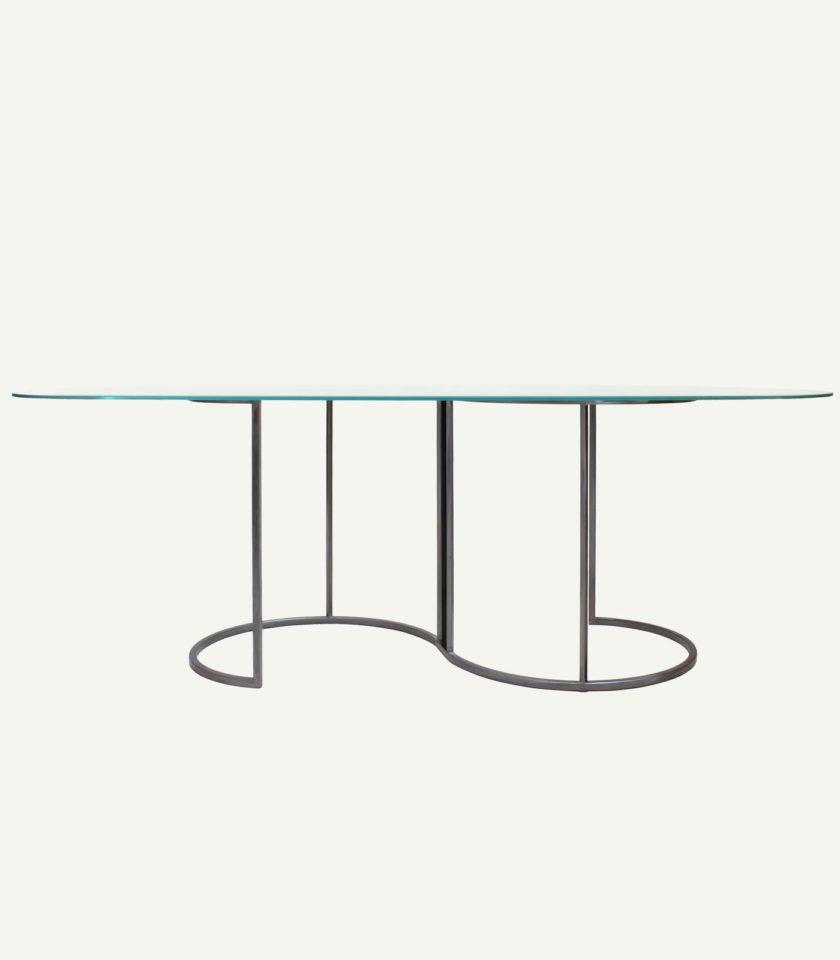 tavolo in vetro moderno fatto a mano