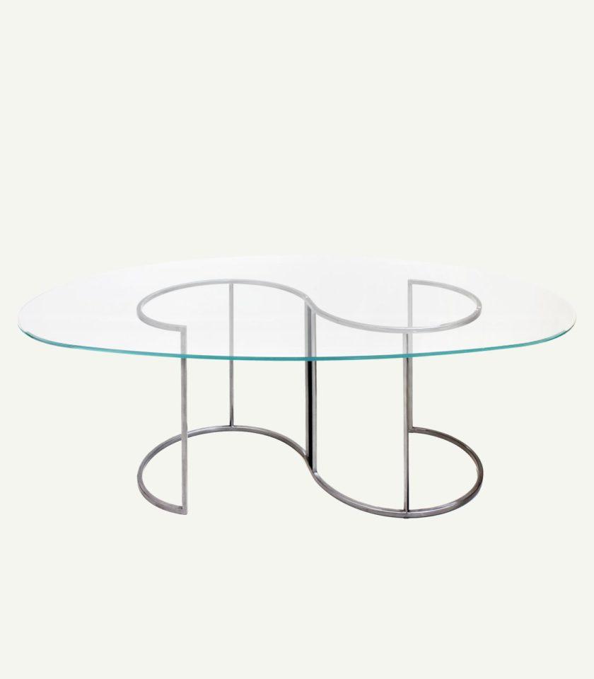 tavolo in vetro moderno francesca levi