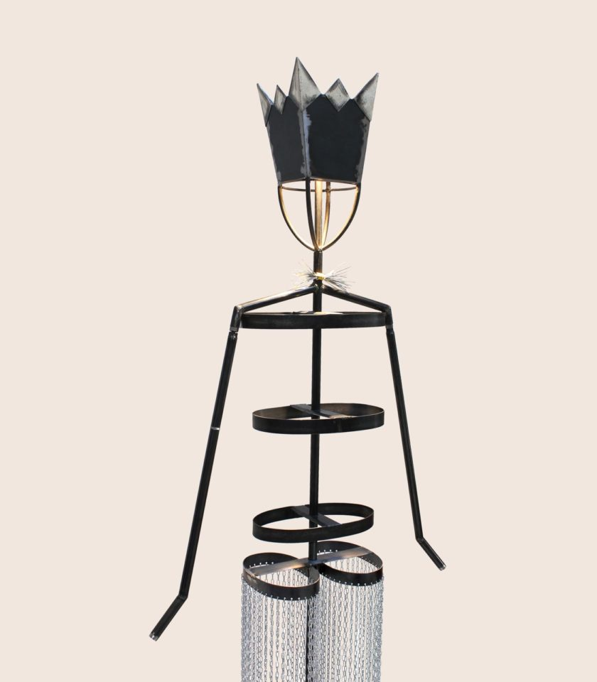 lampada manichino in ferro
