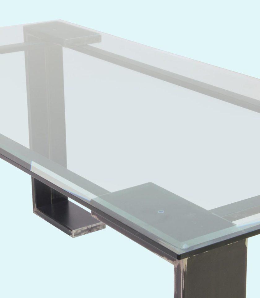tavolo moderno in vetro, functional art