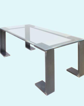 tavolo moderno in vetro di francesca levi