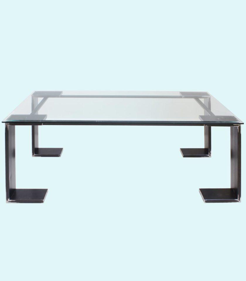 tavolo moderno in vetro, design e arte