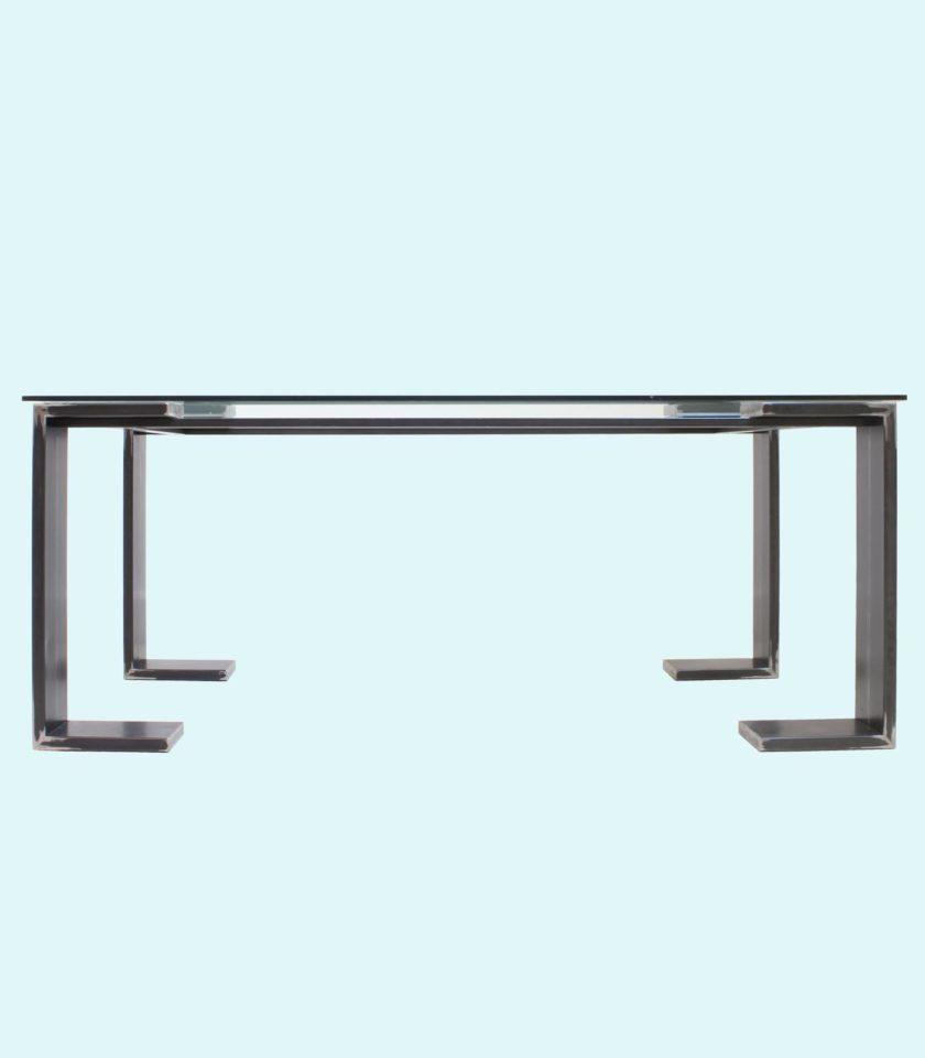 tavolo moderno in vetro temperato