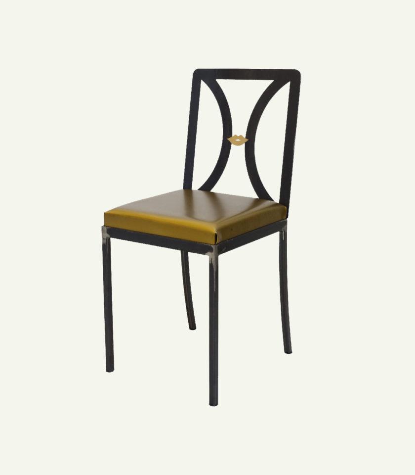 sedie ferro e pelle fatta a mano
