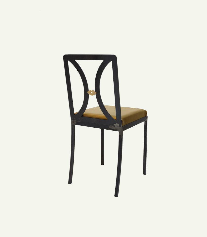 sedie ferro e pelle industrial