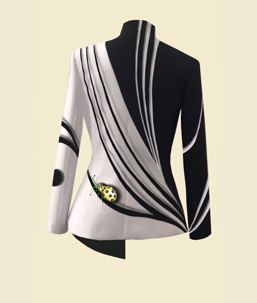 giacca in seta